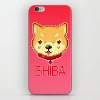 shiba inu iPhone & iPod Skins featuring SHIBA INU LOVE by giaj