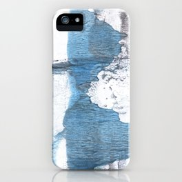 Blue hand-drawn watercolor iPhone Case