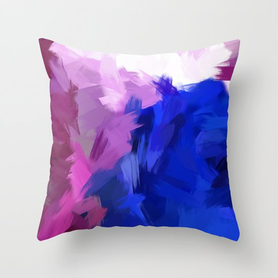 BLOSSOMS - PURPLE Throw Pillow