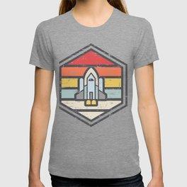 Retro Badge Space Shuttle Light T-shirt