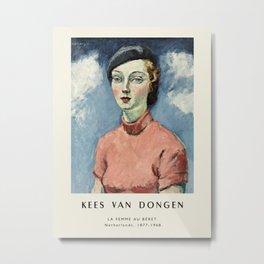 Poster-Kees van Dongen-A woman in a beret. Metal Print