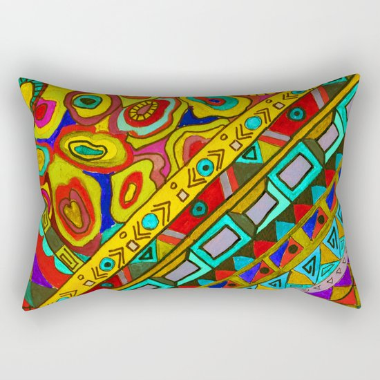 An abstract textured pattern in Oriental style 2 . Rectangular Pillow