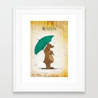 wildlife Framed Art Prints featuring Wildlife by AhaC