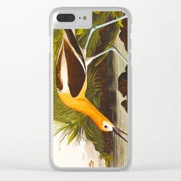 American Avocet Vintage Bird Illustration Clear iPhone Case