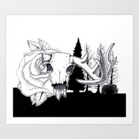 hunting Art Prints featuring Hunting  by Mack