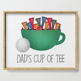 Dad's Cup Of Tee Serving Tray