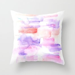 170527 Back to Basic Pastel Watercolour 16 |Modern Watercolor Art | Abstract Watercolors Throw Pillow