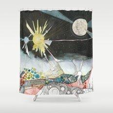 Exploration: The Sun Shower Curtain
