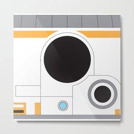 White Android Block Metal Print