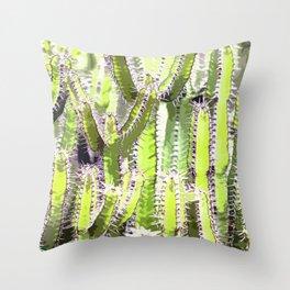 Cactus of desert plants Throw Pillow