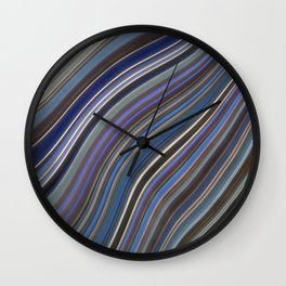 Mild Wavy Lines IV Wall Clock