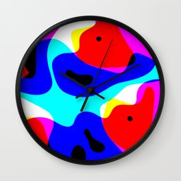 Hidden fox Wall Clock