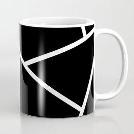 Black and White Fragments - Geometric Design II Coffee Mug