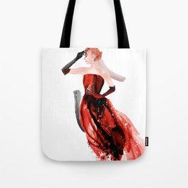Red evening dresses, Fashion Beauty, Fashion Painting, Fashion IIlustration, Vogue Portrait, #17 Tote Bag