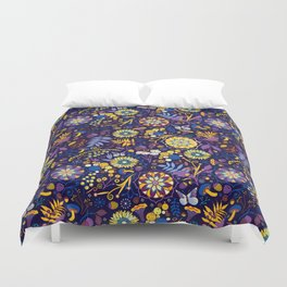 Ripe autumn – purple and yellow Duvet Cover