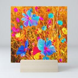 DESERT WILD FLOWERS Mini Art Print