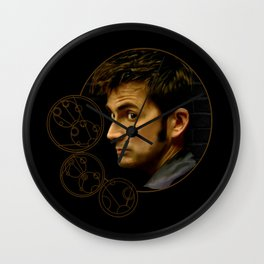 The Tenth Doctor with Gallifreyan Wall Clock