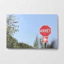 Stop Metal Print