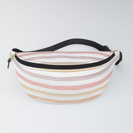 watercolor abstract stripes in warm color Fanny Pack