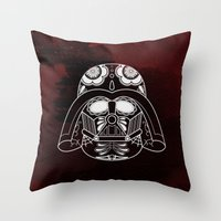 darth vader Throw Pillows featuring Darth Vader by vrdgrs
