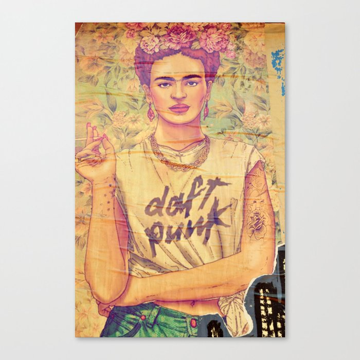 daft punk & frida Canvas Print by gzmguvenc | Society6