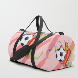 Soccer Ball with Brush Strokes Duffle Bag
