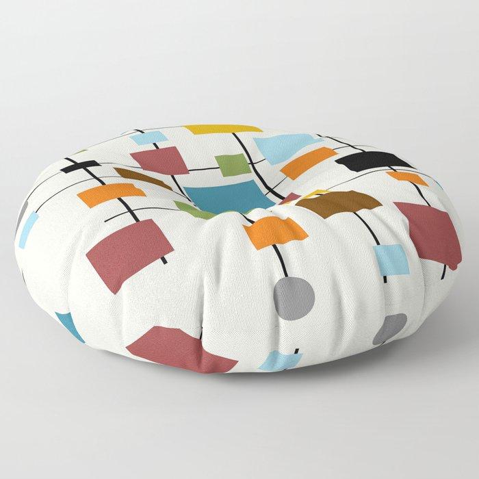 Mid-Century Modern Art 1.3 Floor Pillow