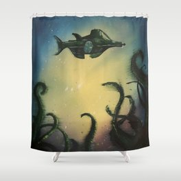 20,000 Leagues Under The Sea - Jules Verne Shower Curtain