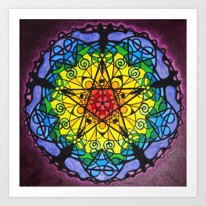 The Pentagram / Pentagramm Art Print