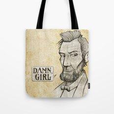 Damn, Lincoln Tote Bag