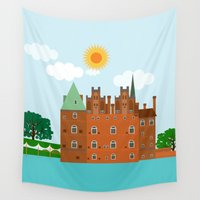 castle Wall Tapestries featuring castle  by Design4u Studio