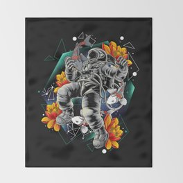 Lucky Spaceman Throw Blanket