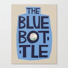 The Blue Bottle - typographic design Canvas Print