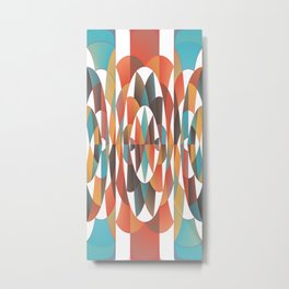 Colorful geometric abstract Metal Print