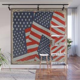 Patriotic Americana Flag Pattern Art #2 Wall Mural