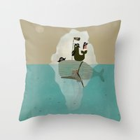 pirates Throw Pillows featuring we are pirates too by bri.buckley