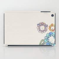 water colour iPad Cases featuring Water-colour Flowers by Natasha Ramon