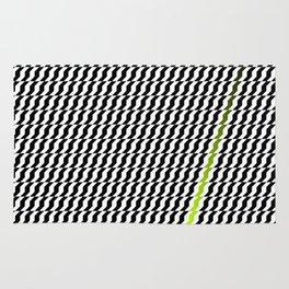 A Stripe of Green Rug