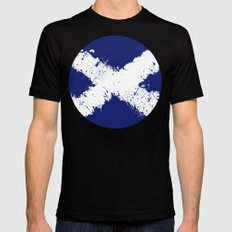 in to the sky, scotland Black Mens Fitted Tee MEDIUM