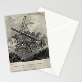 Temporary Mounting of an Achromatic Refracting Telescope Stationery Cards