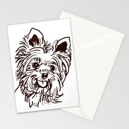The Yorkie Dog Love of my Life! Stationery Cards