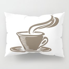 Steaming Cup of Coffee Pillow Sham