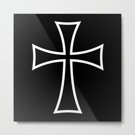 Modern Teutonic Cross Metal Print