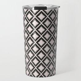 Modern black blush pink wild ethno pattern Travel Mug