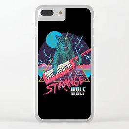 Strange Wolf Clear iPhone Case