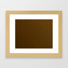 Chocolate Brown Moroccan Geometric Pattern Framed Art Print