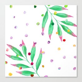 dot leaf Canvas Print