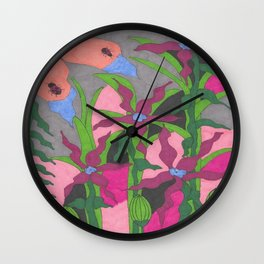 The Garden at Twilight Wall Clock