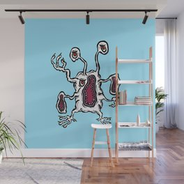 Are you ill? Check your Germs! Albino Screamz Wall Mural