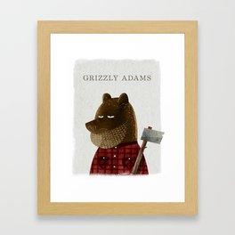 Grizzly Adams Framed Art Print